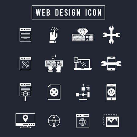 Web Design Icon. For web design and application interface, also useful for infographics. Vector illustration.