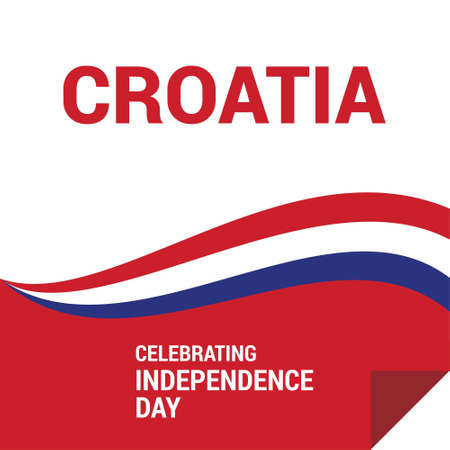 Croatia Independence Day Abstract Flag. For web design and application interface, also useful for infographics. Vector illustration. 矢量图像