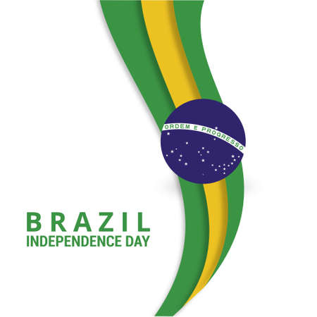 Brazil. Happy independence day! Abstract Lines Background. For web design and application interface, also useful for infographics. Vector illustration.