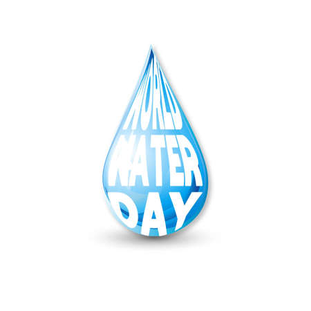 Background of World Water Day. For web design and application interface, also useful for infographics. Vector illustration. Illusztráció