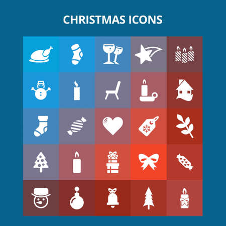 Christmas Icons. For web design and application interface, also useful for infographics. Vector illustration.