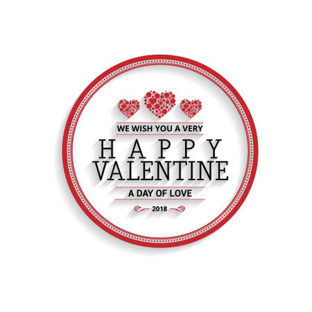 We wish you a very happy Valentine with circle design. For web design and application interface, also useful for infographics. Vector illustration.