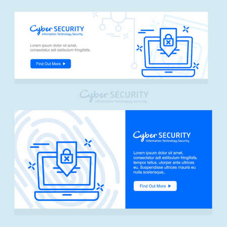 Cyber security design with creative design vector. For web design and application interface, also useful for infographics. Vector illustration. Vector Illustration