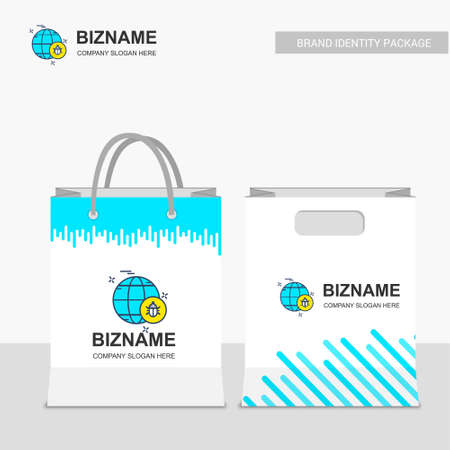 Company Shopping bags design with stylish look. For web design and application interface, also useful for infographics. Vector illustration.