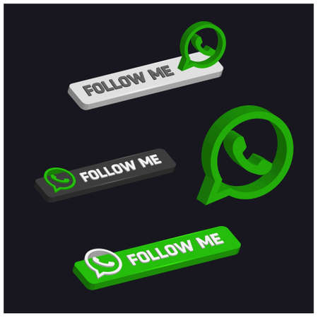 Follow me on Whatsapp. For web design and application interface, also useful for infographics. Vector illustration.