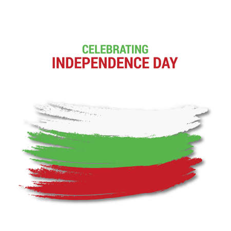 Celebtraing Bulgaria Independence Day. For web design and application interface, also useful for infographics. Vector illustration.