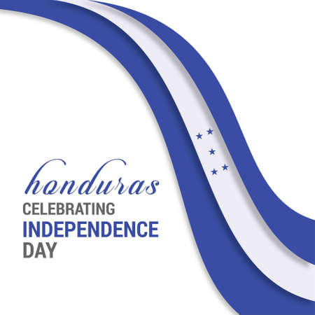 Creative illustration of Honduras independence day.. For web design and application interface, also useful for infographics. Vector illustration. 向量圖像