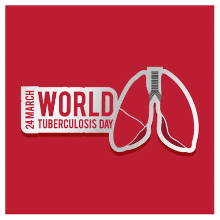 Vector illustration of a stylish text for World Tuberculosis Day.. For web design and application interface, also useful for infographics. Vector illustration. Illustration