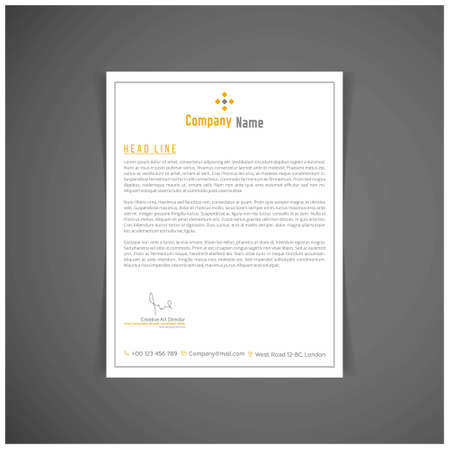 Corporate identity set or kit for your business. Letter templates. Vector format, editable, place for text. For web design and application interface, also useful for infographics. Vector illustration.
