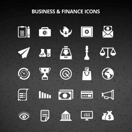 Business and Finance Icons. For web design and application interface, also useful for infographics. Vector illustration. Vektorové ilustrace