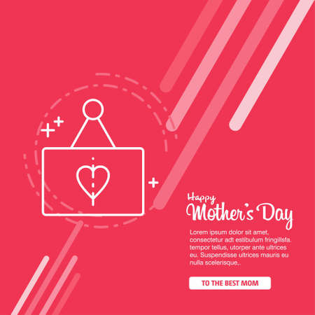 Mother's day greeting card with blossom flowers. For web design and application interface, also useful for infographics. Vector illustration.