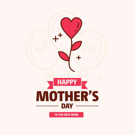 happy mother day, holiday pink flower on blue background. can be use for sale advertisement, backdrop. vector. For web design and application interface, also useful for infographics. Vector illustration. Illustration