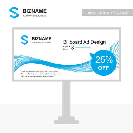 Company bill board design with creative design vector. For web design and application interface, also useful for infographics. Vector illustration.