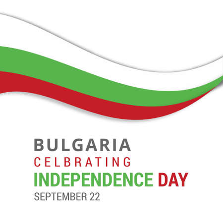 Bulgaria Celebrating Independence Day September 22nd. For web design and application interface, also useful for infographics. Vector illustration.