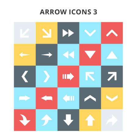 Arrow Icons. For web design and application interface, also useful for infographics. Vector illustration.