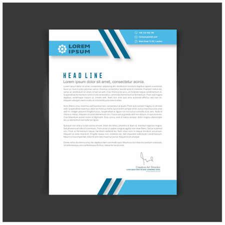 Corporate Identity Set oder Kit für Ihr Unternehmen. Briefvorlagen. Vektorformat, bearbeitbar, Platz für Text. Für Webdesign und Anwendungsoberfläche, auch nützlich für Infografiken. Vektorillustration.