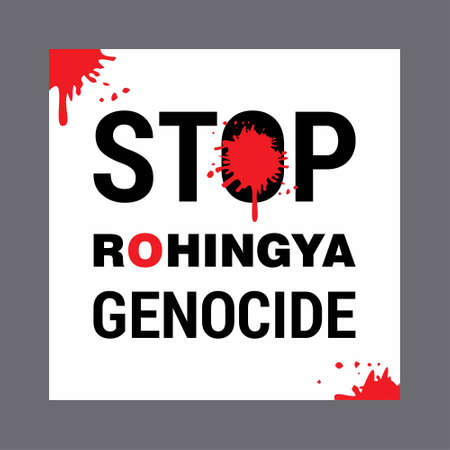 Save Rohingya. Save Rohingya Poster. Save Rohingya Text. For web design and application interface, also useful for infographics. Vector illustration.