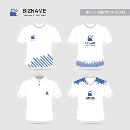Compnay advertisment shirts with unique design. For web design and application interface, also useful for infographics. Vector illustration.