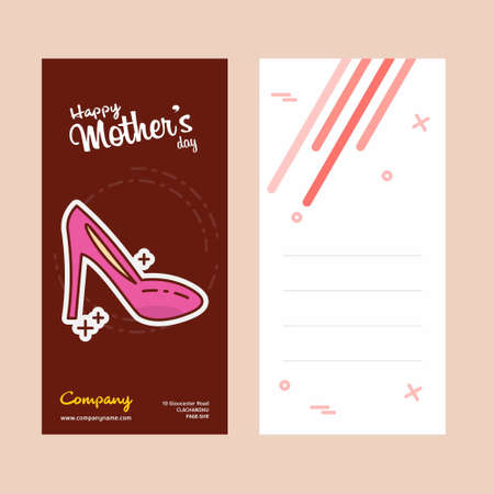 Mother's day card with scandal logo and pink theme vector. For web design and application interface, also useful for infographics. Vector illustration. Illustration