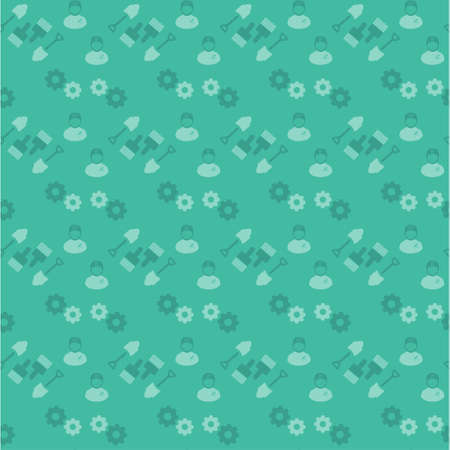 Happy Labor Day Green Pattern background. For web design and application interface, also useful for infographics. Vector illustration. Illustration