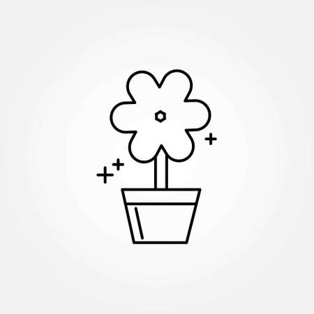 Mothers day line icon on white background vector. For web design and application interface, also useful for infographics. Vector illustration. Illustration