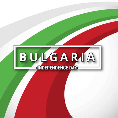 Bulgaria Independence Day abstract background. For web design and application interface, also useful for infographics. Vector illustration. Ilustrace