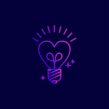 Mothers day neon icons with dark background vector. For web design and application interface, also useful for infographics. Vector illustration.