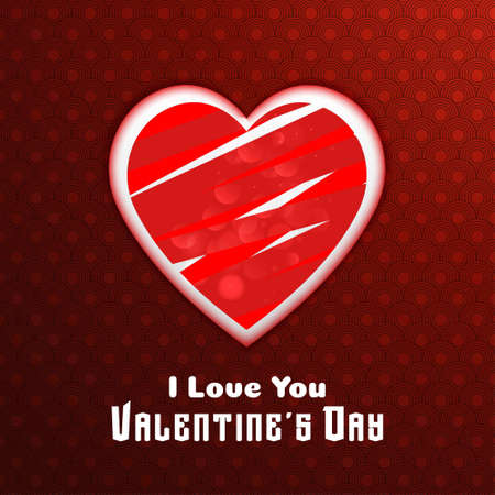I love you valentine's card with pattern background. For web design and application interface, also useful for infographics. Vector illustration.