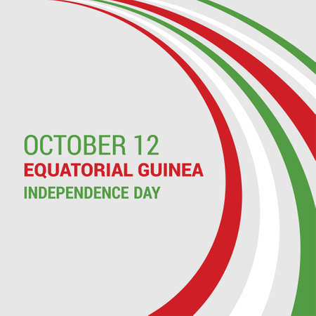 Banner or poster of Equatorial Guinea independence day celebration. Waving flag. Vector illustration.. For web design and application interface, also useful for infographics. Vector illustration. Vector Illustration