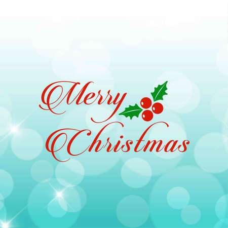 christmas greeting card with light background red text and christmas cherrie.. For web design and application interface, also useful for infographics. Vector illustration. Illustration