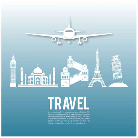 Travel infographics, landmark and transport. For web design and application interface, also useful for infographics. Vector illustration.