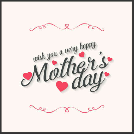 Happy Mothers Day lettering. Handmade calligraphy vector illustration. Mother's day card. For web design and application interface, also useful for infographics. Vector illustration.