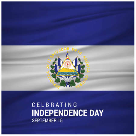 Independence day of El Salvador. Patriotic Banner. Vector illustration. For web design and application interface, also useful for infographics. Vector illustration.