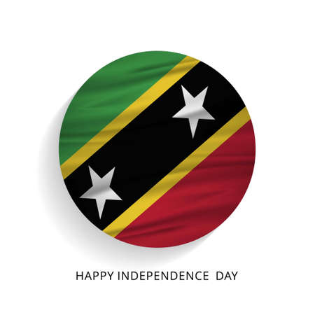 Happy Independence Day Saint Kitts waving Flag. For web design and application interface, also useful for infographics. Vector illustration.