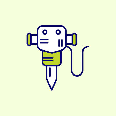 Labour day icon with light background with green theme icon. For web design and application interface, also useful for infographics. Vector illustration.  イラスト・ベクター素材