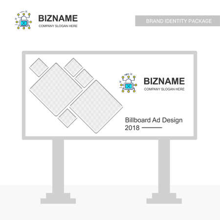 Business Bill board design with cyber security logo. For web design and application interface, also useful for infographics. Vector illustration. Banque d'images - 114988568