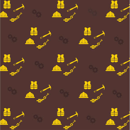 Happy Labor Day Brown Pattern background. For web design and application interface, also useful for infographics. Vector illustration. Ilustración de vector