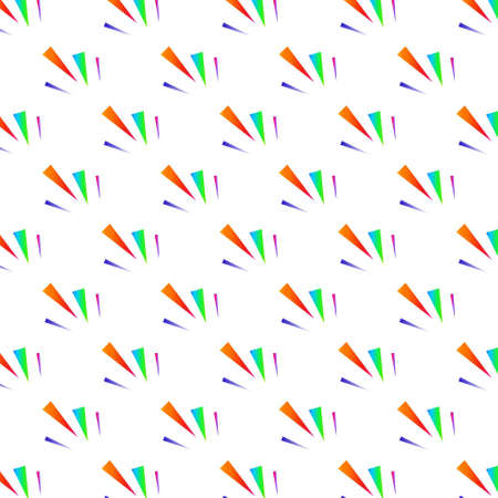 Festive colorful triangle confetti background. Vector illustration for decoration of holidays, postcards, posters, websites, carnivals, birthday and childrens parties.. For web design and application interface, also useful for infographics. Vector illustration. Illustration