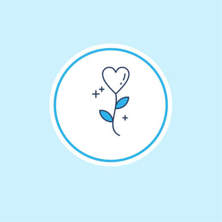 Mothers day blue icon with light blue background vector. For web design and application interface, also useful for infographics. Vector illustration.