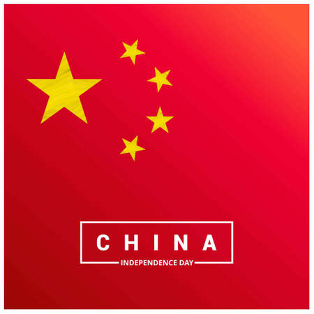 Independence day of China. Patriotic Banner. Vector illustration. For web design and application interface, also useful for infographics. Vector illustration.