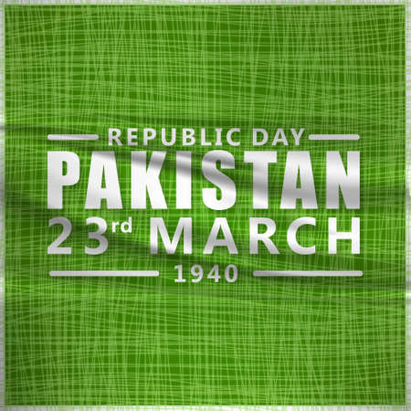 creative vector abstract for Happy Pakistan Day, Vector Template for Pakistan Day, 23rd March.. For web design and application interface, also useful for infographics. Vector illustration. Ilustração