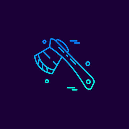 Labour day neon icon with dark background vector. For web design and application interface, also useful for infographics. Vector illustration.