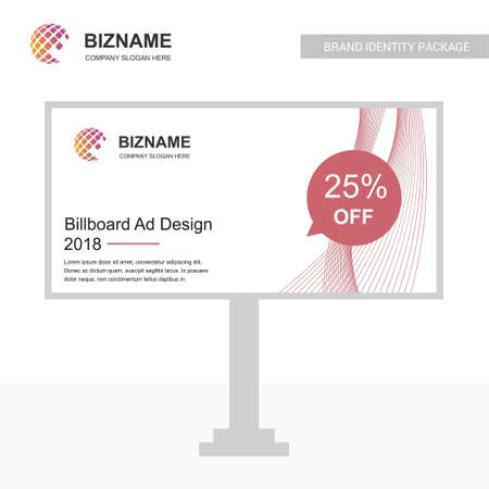 Company advertisment banner with logo and slogan vector with world map. For web design and application interface, also useful for infographics. Vector illustration. Illustration