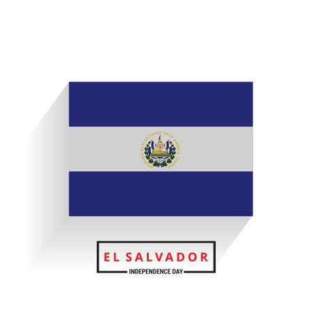 El Salvador Independence Day. For web design and application interface, also useful for infographics. Vector illustration. Illustration