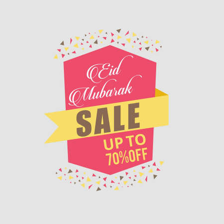 Vector illustration sale poster,banner or flyer of eid mubarak.. For web design and application interface, also useful for infographics. Vector illustration. Illustration