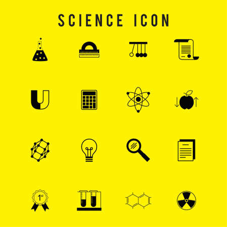 Science Icon set. For web design and application interface, also useful for infographics. Vector illustration.