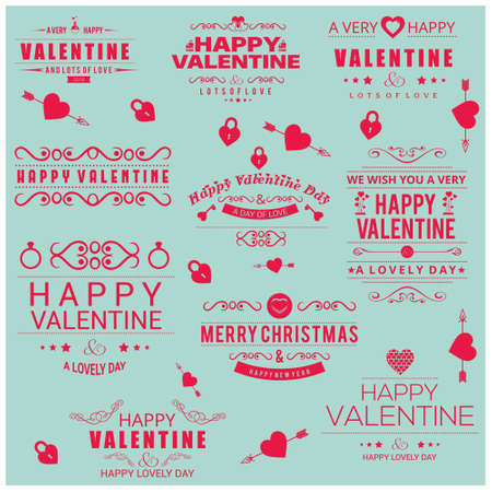 Valentine typographic vector light blue. For web design and application interface, also useful for infographics. Vector illustration. Illustration