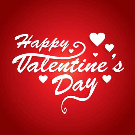 Happy Valentine'sday card with red pattern background. For web design and application interface, also useful for infographics. Vector illustration. Vetores