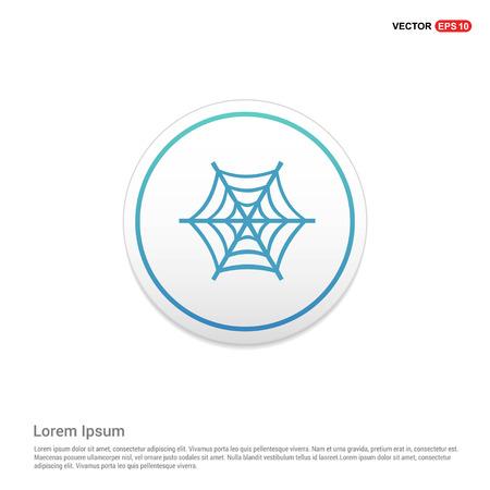 halloween spider web icon hexa white background icon template