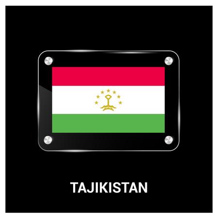 Tajikistan flag design vector